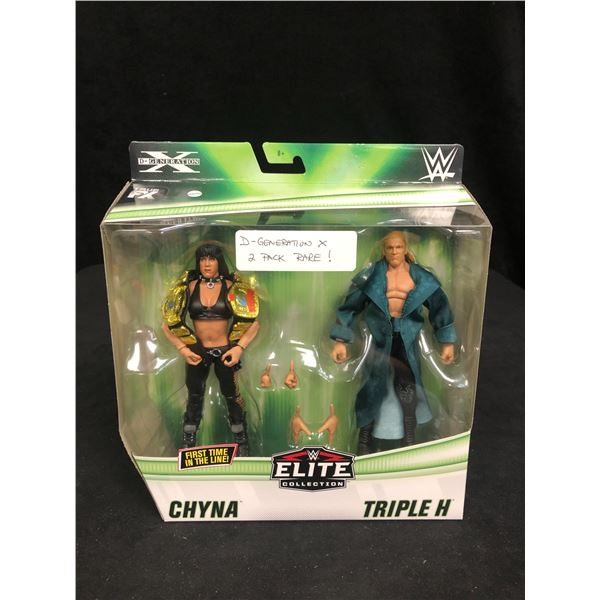"""WWE ELITE COLLECTION """"CHYNA VS TRIPLE H"""" ELITE 2-PACK ACTION FIGURES"""