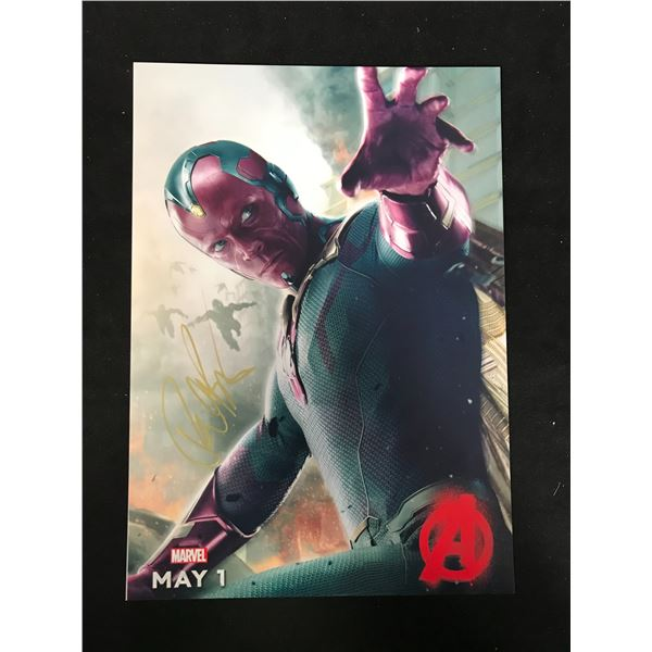PAUL BETTANY (VISION) SIGNED PHOTO (REAL AUTHENTIC COA)