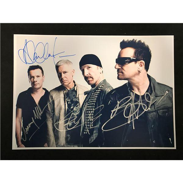 U2 BAND SIGNED PHOTO (REAL AUTHENTIC COA)