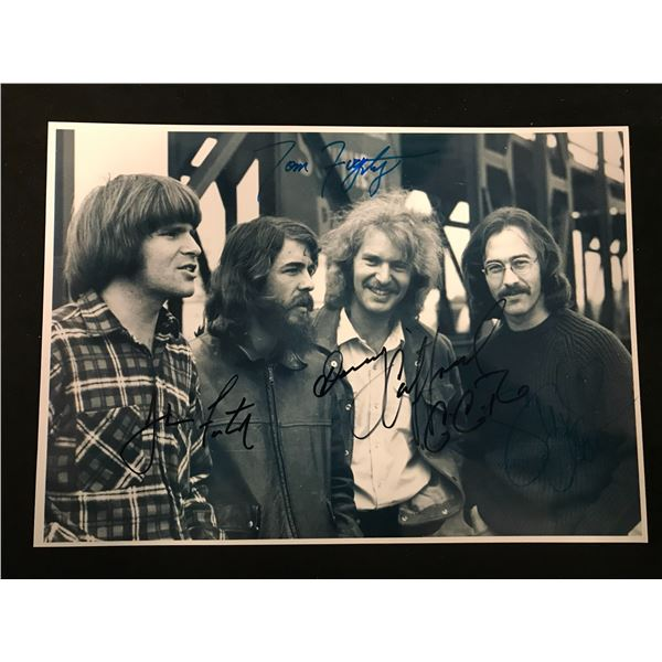 Creedence Clearwater Revival Band Signed Photo (Real Authentic COA)