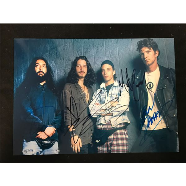 SOUNDGARDEN BAND SIGNED PHOTO (REAL AUTHENTIC COA)