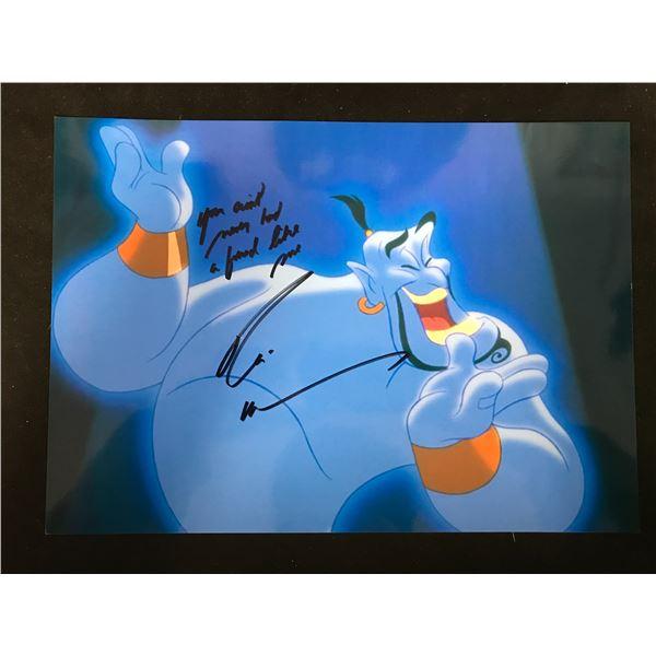 Robin Williams Signed Aladdin Genie Picture (Real Authentic COA)