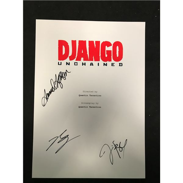DJANGO SIGNED SCRIPT COVER (REAL AUTHENTIC COA)