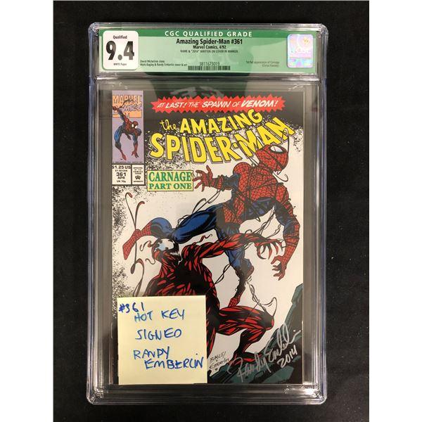 The AMAZING SPIDER-MAN #361 CGC GRADE 9.4 (MARVEL COMICS) 1992