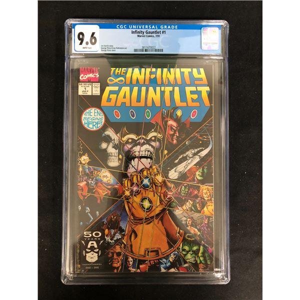 THE INFINITY GAUNTLET #1 CGC GRADE 9.6 (MARVEL COMICS) 1991