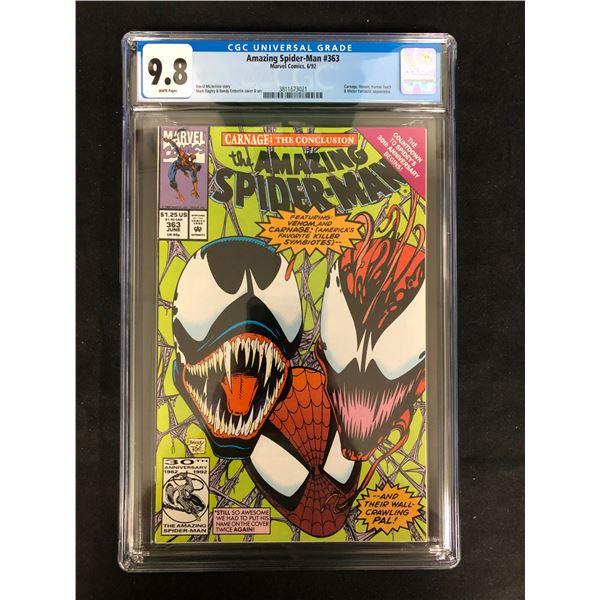 The AMAZING SPIDER-MAN #363 CGC GRADE 9.8 (MARVEL COMICS) 1992