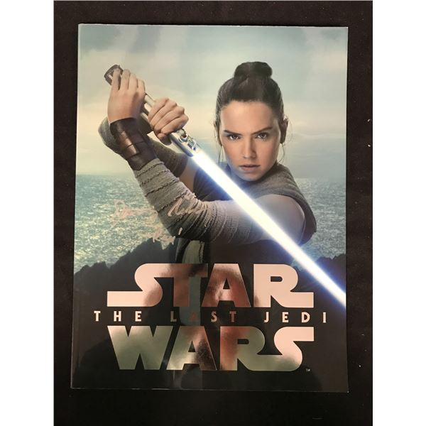 DAISY RIDLEY SIGNED STAR WARS THE LAST JEDI BOOK REAL AUTHENTICS COA