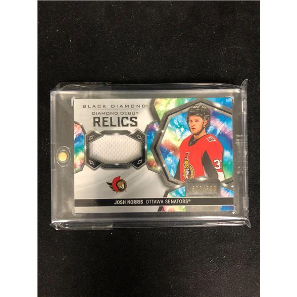 2020-21 Black Diamond Debut Relics Josh Norris /399 Ottawa Senators