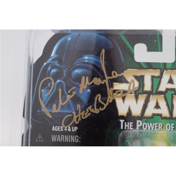 """PETER MAYHEW SIGNED """"STAR WARS"""" ACTION FIGURE INSCRIBED """"CHEWBACCA"""" (BECKETT COA)"""