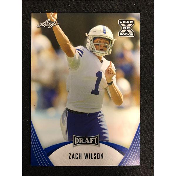 2021 Leaf Draft Football Zach Wilson ROOKIE BYU Cougars #03 RC