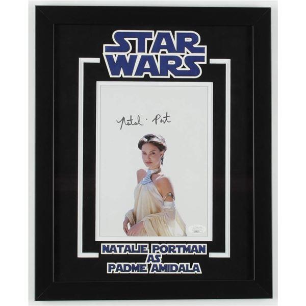 "NATALIE PORTMAN SIGNED ""STAR WARS"" 12.5x15.5 CUSTOM FRAMED PHOTO DISPLAY (JSA COA)"