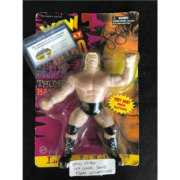 "WCW MONDAY NITRO SIGNED ""LEX LUGER"" ACTION FIGURE (COMIC-CON COA)"