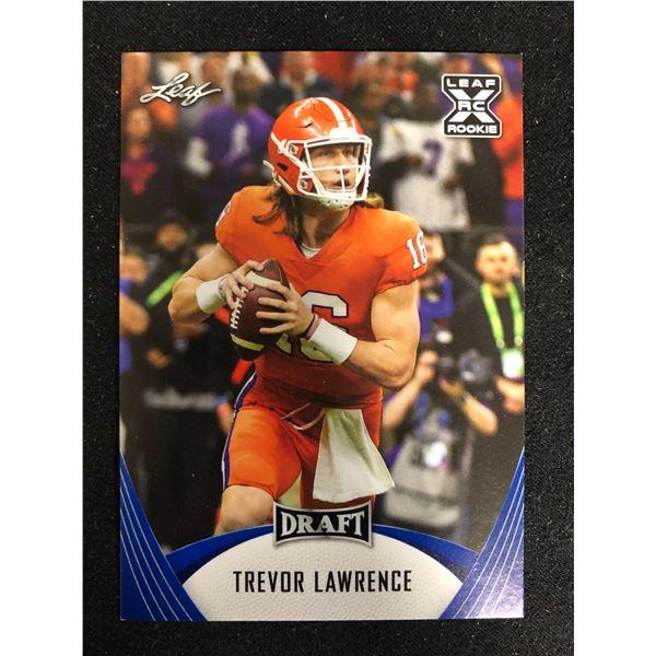 2021 Leaf Draft Trevor Lawrence RC Rookie #01