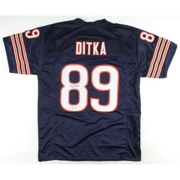 MIKE DITKA SIGNED BEARS PRO STYLE JERSEY (BECKETT COA)