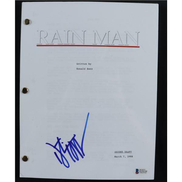 DUSTIN HOFFMAN SIGNED RAIN MAN SCRIPT COVER (BECKETT COA)