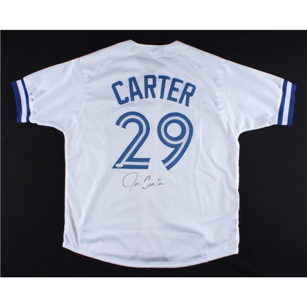 JOE CARTER SIGNED BLUE JAYS PRO STYLE JERSEY (JSA COA)