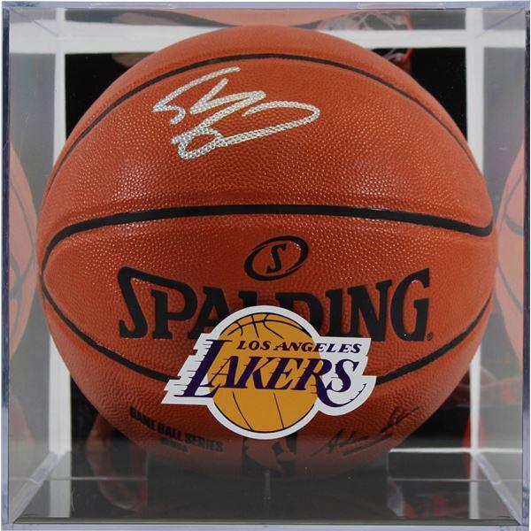 SHAQUILLE O'NEAL SIGNED NBA GAME BALL BASKETBALL W/DISPLAY CASE (BECKETT COA)