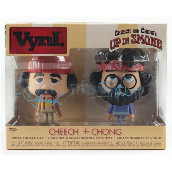 """CHEECH and CHONG'S """"Up in Smoke"""" Signed VINYL COLLECTIBLES FIGURINES (JSA COA)"""