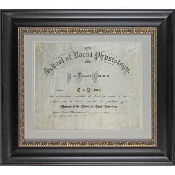 Alexander Graham Bell Authentic Signed & Framed 13.75x16.5 1877 Diploma (Beckett LOA)