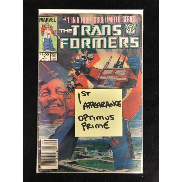 THE TRANSFORMERS #1 in a Four Issue Limited Series (MARVEL COMICS) 1st Appearance Optimus Prime