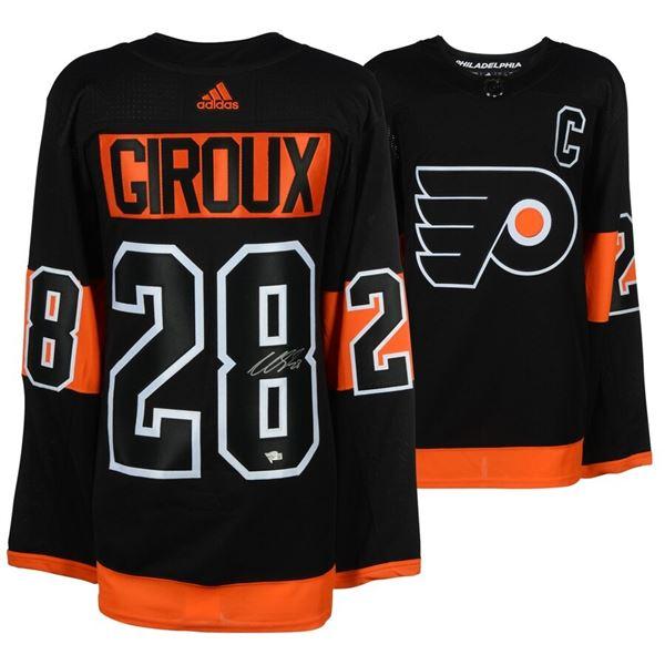 Claude Giroux Philadelphia Flyers Signed Black Alternate Adidas Authentic Jersey (FANATICS COA)