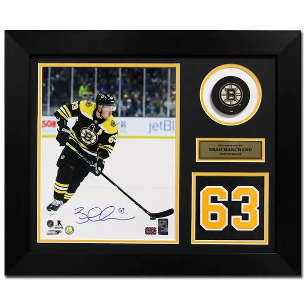 Autographed Brad Marchand Jersey - Franchise Number 20x24 Frame w/ COA