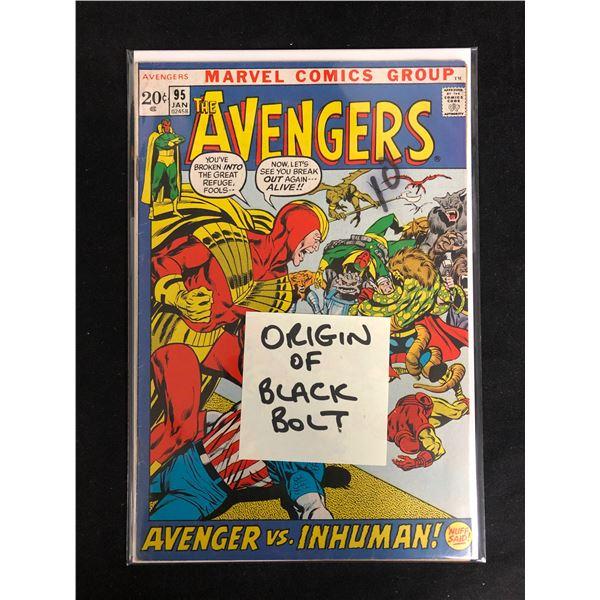 THE AVENGERS #95 (MARVEL COMICS) Origin of Black Belt