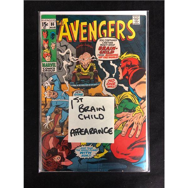 THE AVENGERS #86 (MARVEL COMICS) 1st Brainchild Appearance