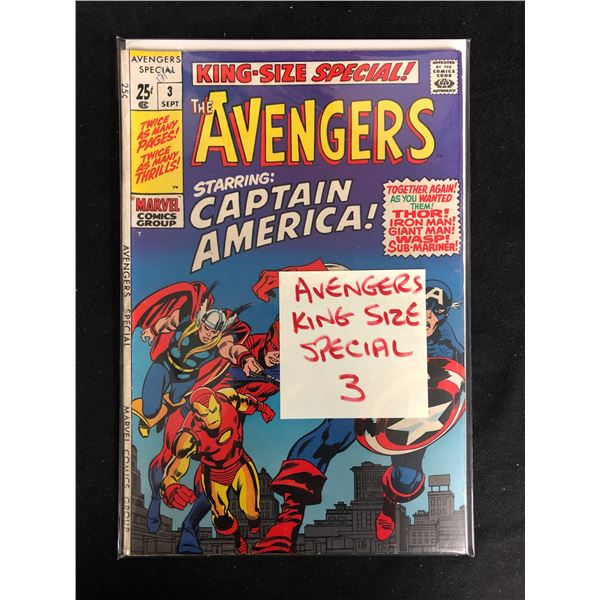 THE AVENGERS #3 (MARVEL COMICS) King-Size Special!
