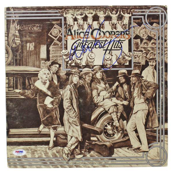 Alice Cooper Authentic Signed Greatest Hits Album Cover (PSA/DNA)