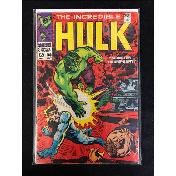 THE INCREDIBLE HULK #108 (MARVEL COMICS)