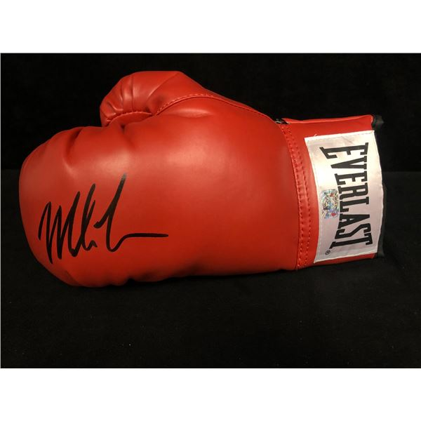 MIKE TYSON SIGNED RED EVERLAST BOXING GLOVE (FITERMAN HOLOGRAM)