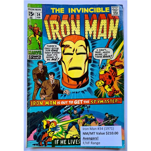THE INVINCIBLE IRON MAN #34 (MARVEL COMICS)