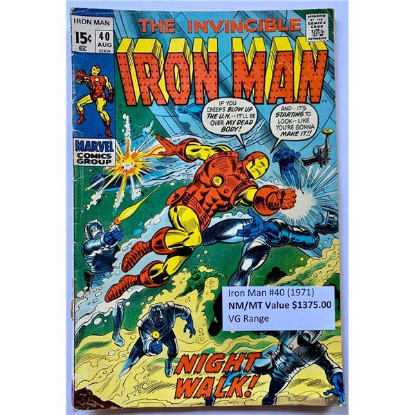 THE INVINCIBLE IRON MAN #40 (MARVEL COMICS)