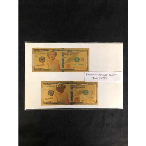 MARILYN MONROE NOVELTY BANK NOTES