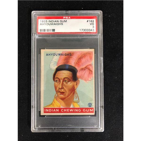 "1933 INDIAN GUM ""AHYOUWAIGHS"" TRADING CARD (PSA 3)"