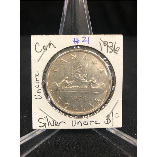 1936 CANADA SILVER DOLLAR (Uncirculated)