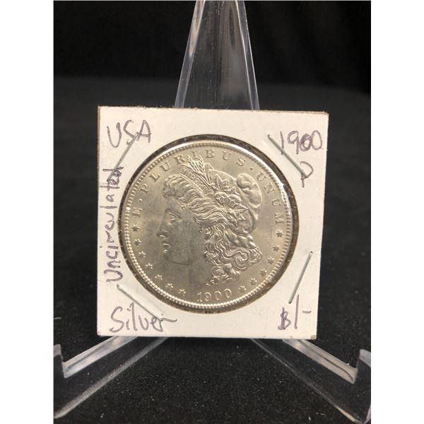 1900 U.S.A MORGAN SILVER DOLLAR (MINTED PHILADELPHIA)