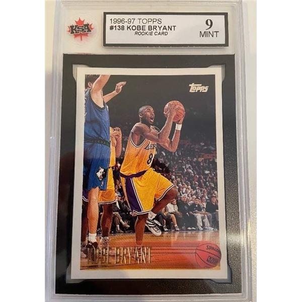 1996-97 TOPPS #138 KOBE BRYANT Rookie Card (9 MINT)