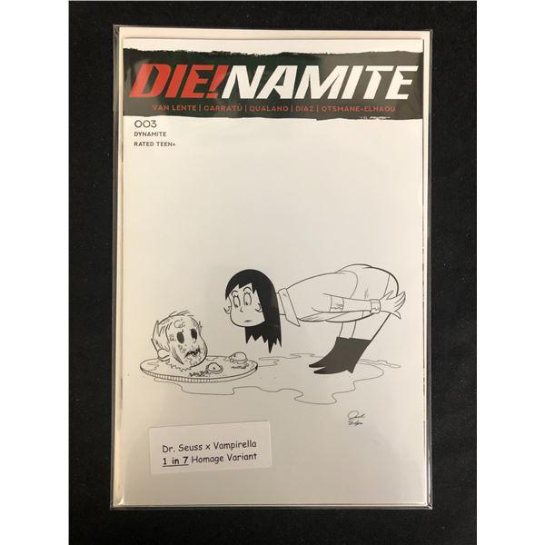 DIE!NAMITE #003 (DR. SEUSS X VAMPIRELLA 1 in 7 HOMAGE VARIANT)