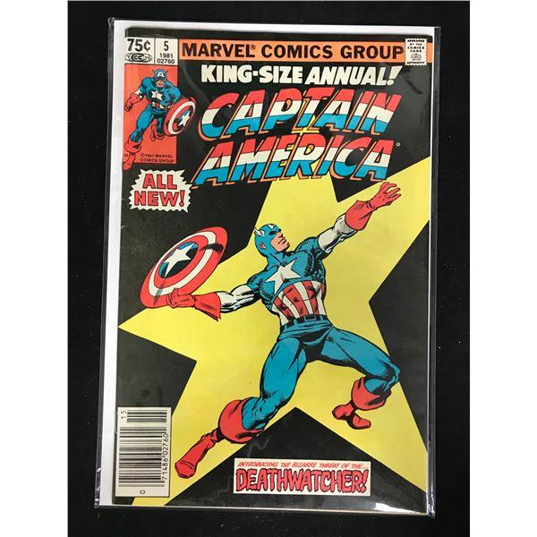 CAPTAIN AMERICA #5 (MARVEL COMICS) King-Size Annual!