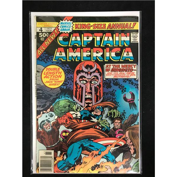 CAPTAIN AMERICA #4 (MARVEL COMICS) King-Size Annual!