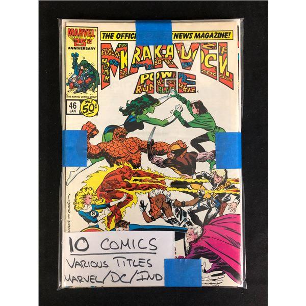 10 COMICS VARIOUS TITLES (DC/ MARVEL/ INDI)