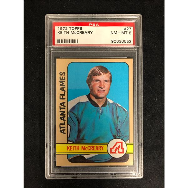 1972 TOPPS #27 KEITH McCREARY (NM-MT 8)