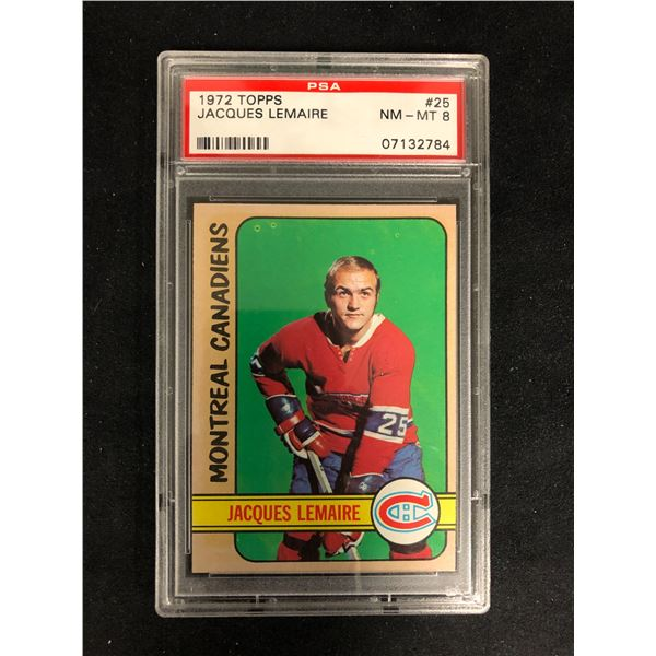 1972 TOPPS #25 JACQUES LEMAIRE (NM-MT 8)