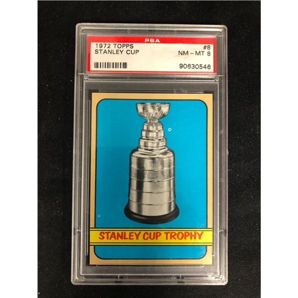 1972 TOPPS #8 STANLEY CUP (NM-MT 8)