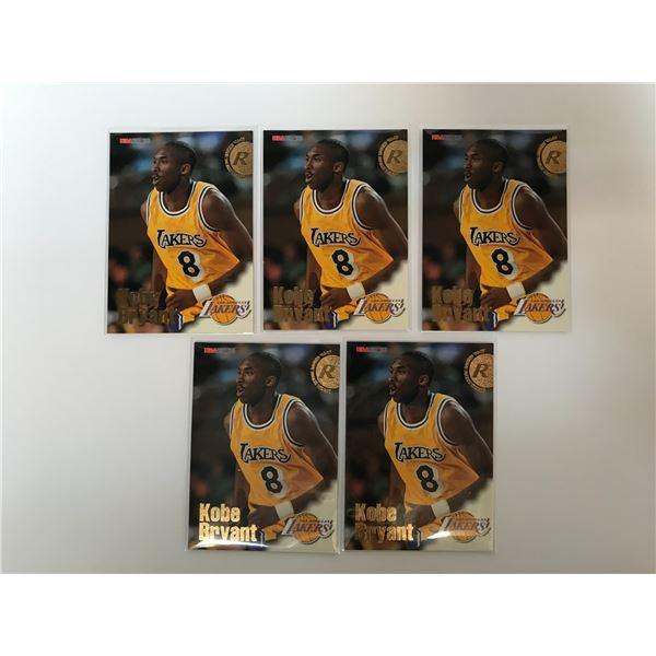 1996-97 NBA HOOPS KOBE BRYANT RC (X5)