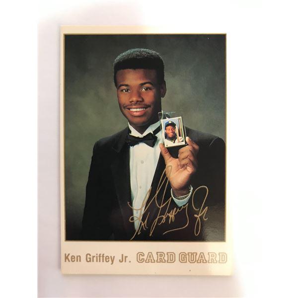 RARE Ken Griffey Jr 1990 Card Guard GOLD SIGNATURE Promo Card