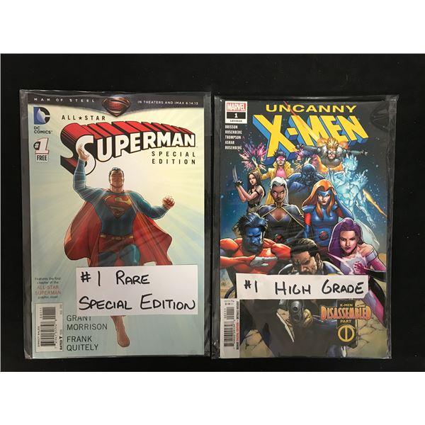 ALL-STAR SUPERMAN #1 (DC)/ UNCANNY X-MEN #1 (MARVEL)