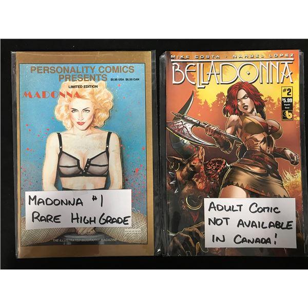MADONNA #1/ BELLADONNA #2 COMIC BOOK LOT